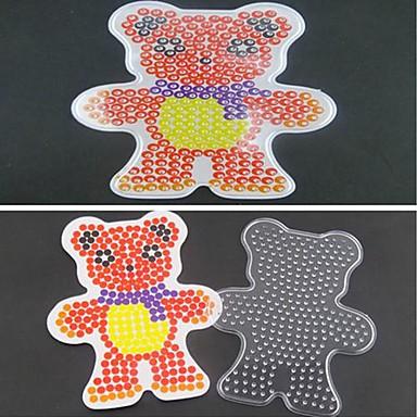 1pcs sjabloon duidelijke zekering kralen pegboard sjaal beer patroon voor 5mm hama kralen diy puzzel