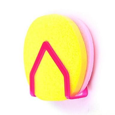 multifunctionele opslag spons haak (willekeurige kleur)