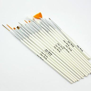 Nail Art Aracı Akrilik Tırnak Fırçası Tırnak Fırçaları tırnak sanatı Manikür pedikür Sentetik Saç / Tahta Klasik Günlük