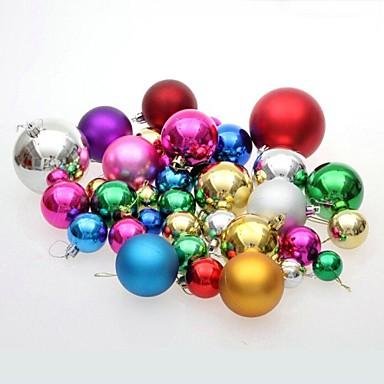 Noel Dekorayonu Yılbaşı Ağaç Süsleri Oyuncaklar Top Tatlı Sevimli Plastik 36 Parçalar