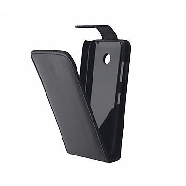 Para Capinha Nokia Flip Capinha Corpo Inteiro Capinha Cor Única Rígida Couro PU Nokia Nokia Lumia 630