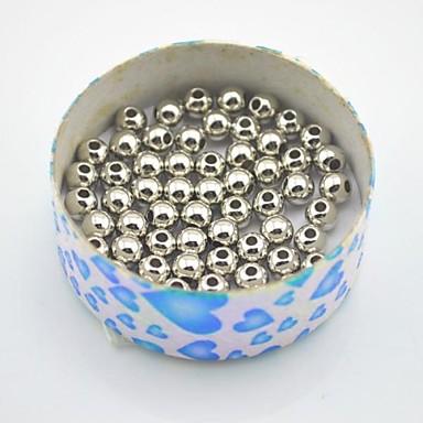 DIY Κοσμήματα 45PC/BAG τεμ Χάντρες κιτ Μεταλλικό Χάντρα 0.7 cm DIY Βραχιόλια Κολιέ