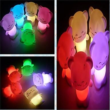 Φώς Νυκτός Αδιάβροχη Μπαταρία PVC 1 Φως Συμπεριλαμβάνονται μπαταρίες 7.0*7.0*10.0cm