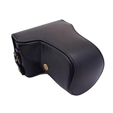 câmera de couro da tampa do caso saco dengpin® com padrão de alça de ombro lichia para Canon EOS m eos m2