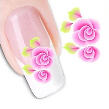 1pcs Transferência de água adesivo Etiquetas de unhas 3D Modelo de estampa de unhas Diário Flor Fashion Casamento Alta qualidade