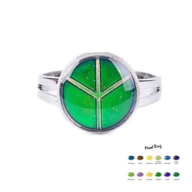 Pentru femei Band Ring Email Aliaj Inele la Modă Bijuterii Verde Pentru Zilnic Casual Sport Ajustabil