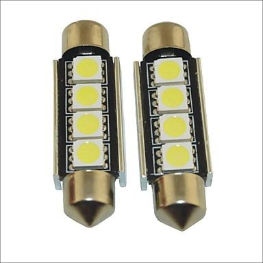 carking ™ 12v 2pcs 5050-4smd-41 milímetros festão carro interior luz roma lâmpada de luz branca