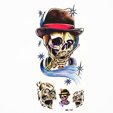 αδιάβροχο οστών του κρανίου προσωρινό τατουάζ δείγμα τατουάζ αυτοκόλλητο καλούπι για την τέχνη του σώματος (18,5 εκατοστά * 8,5 εκατοστά)