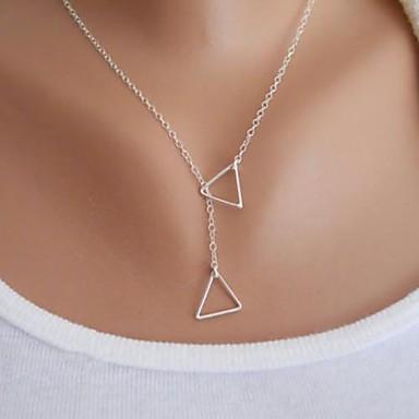 Kadın's kement Uçlu Kolyeler - Temel, minimalist tarzı, Moda Altın, Gümüş Kolyeler Mücevher Uyumluluk Parti, Doğumgünü, Tebrik ederiz