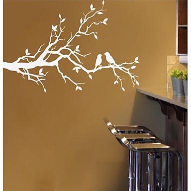 Manzara Natürmort Romantizm Moda Botanik Duvar Etiketler Uçak Duvar Çıkartmaları Dekoratif Duvar Çıkartmaları, PVC Ev dekorasyonu Duvar