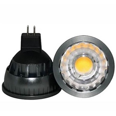 1pc gu5.3 (mr16) led spotlight a60 (a19) cob 500lm warm wit 2800-3000k dimbaar decoratief dc 12v