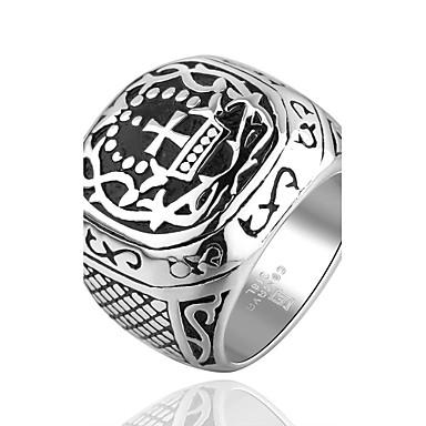 Heren Statement Ring Titanium Staal Modieus Kerstcadeaus Feest Dagelijks Causaal Sport Kostuum juwelen