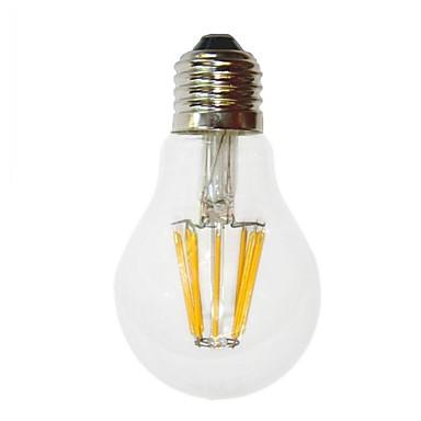 e26 / e27 6w levou lâmpadas de filamento g60 6 cob 450-550 lm quente branco decorativo ac 220-240 v