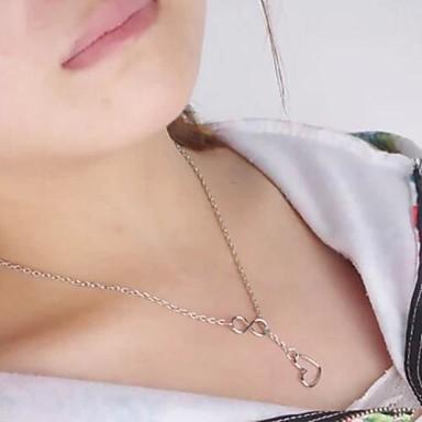 shixin® mode (8, hart) lichtmetalen kleine hanger ketting (gouden) (1 st)