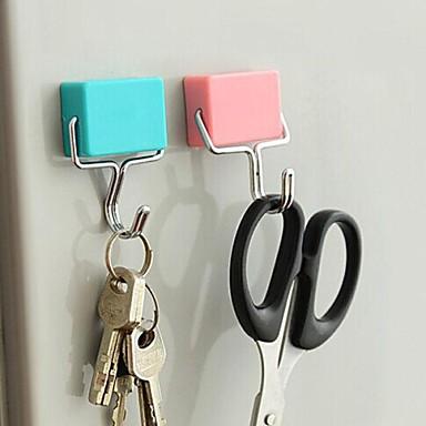 Multifunktionshaken mit Magnet kreative Quadrat (gelegentliche Farbe)