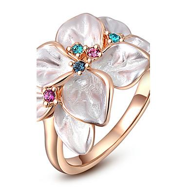Γυναικεία Rose Gold / Κρύσταλλο / Κράμα Δακτύλιος Δήλωσης - Μοντέρνα Λευκό Δαχτυλίδι Για Πάρτι / Καθημερινά / Causal