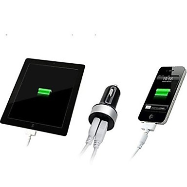 Недорогие Зарядные устройства для телефонов-Автомобильное зарядное устройство Dual USB зарядное устройство несколько портов 2 порта USB 2.1 A / 1 DC 12 В-24 В для планшета iphone мобильного телефона