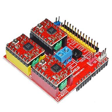 v2 3d yazıcı sürücüsü genişletme arduino için board - kırmızı