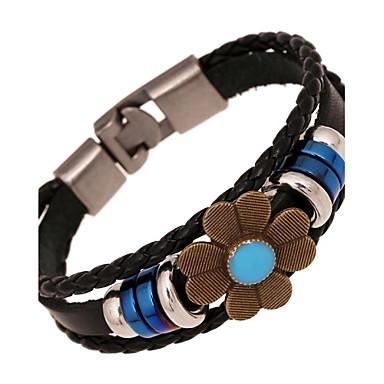 Damen Strang-Armbänder Lederarmbänder - Leder Blume Armbänder Für Alltag Normal