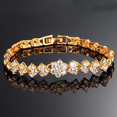 belas 18 k chapeamento de ouro mosaico aaa zircão ms bracelete de ouro