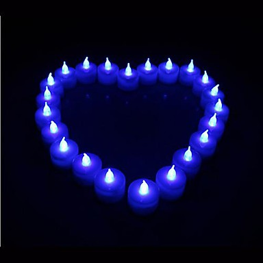 Φως κεριών Μπαταρία Ακρυλικό 1 Φως Συμπεριλαμβάνονται μπαταρίες 9.0*4.5*4.5cm