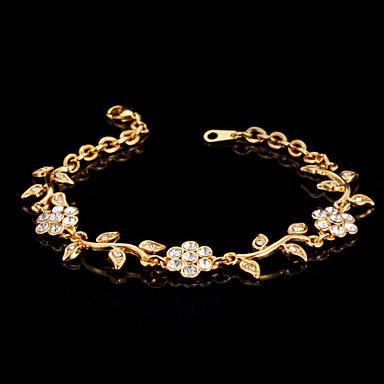 billige Damesmykker-Dame Klar damer Kjede Legering Armbånd Smykker Gull / Sølv Til Bryllup Fest Spesiell Leilighet jubileum Bursdag Engasjement