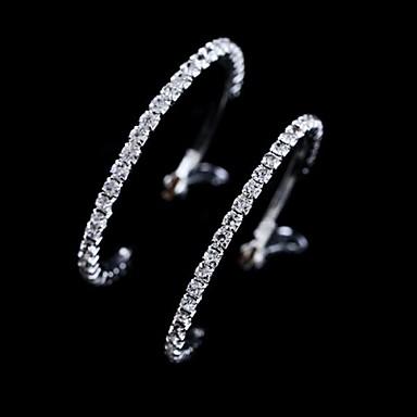 Damen Kristall Kreolen - Krystall Weiß Für Hochzeit Party Alltag