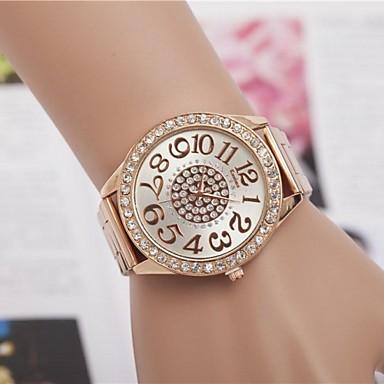 Pentru femei Ceas La Modă Quartz Aliaj Bandă Sclipici Auriu Roz auriu