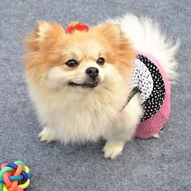 Kat Hond Jurken Hondenkleding Cosplay Bruiloft Stippen Wit Zwart Kostuum Voor huisdieren