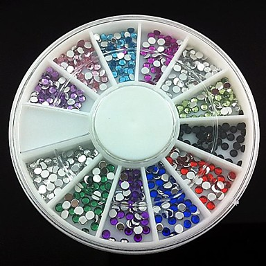 360 pcs Acrylic Nail Art Kit For Finger nail art Manicure Pedicure Abstract / Wedding