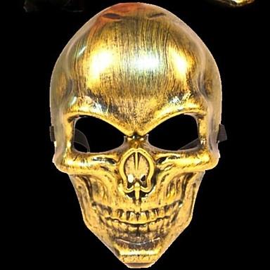 σκελετός πολεμιστής 3 πλαστικό υλικό φανταχτερό φόρεμα Απόκριες μάσκα (τυχαία χρώμα)
