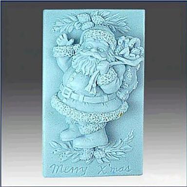 Weihnachten Santa Claus Fondantkuchen Schokolade Silikonform Kuchen Dekorationswerkzeuge, l8.6cm * w5.6cm * h3.3cm
