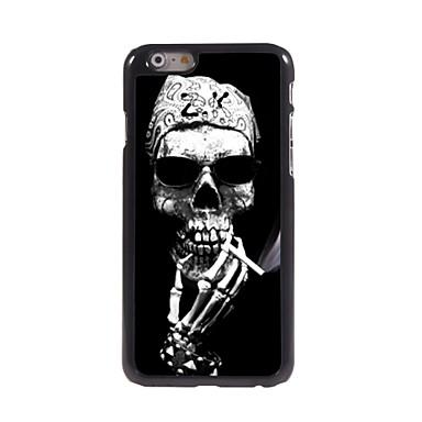 um caso difícil design de alumínio esqueleto fumar para iphone 6 mais