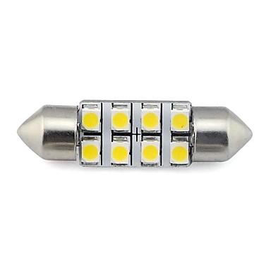 Plaka lambası beyaz sıcak beyaz dc 12v okumak için 36mm 8x3528 smd 1.3W 60LM araba oto eş ışığı (2 adet)
