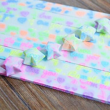 30 buc efect fluorescent i love you model norocos materiale origami stele (de culoare aleatorii)