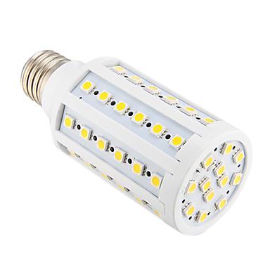 800 lm E26/E27 LED Mısır Işıklar T 60 led SMD 5050 Sıcak Beyaz AC 220-240V