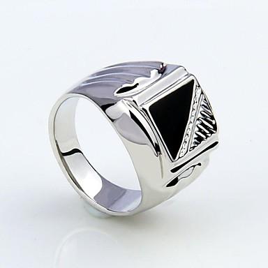 Bărbați Inel de declarație Argintiu Diamante Artificiale Aliaj Modă Cadouri de Crăciun Petrecere Zilnic Casual Costum de bijuterii