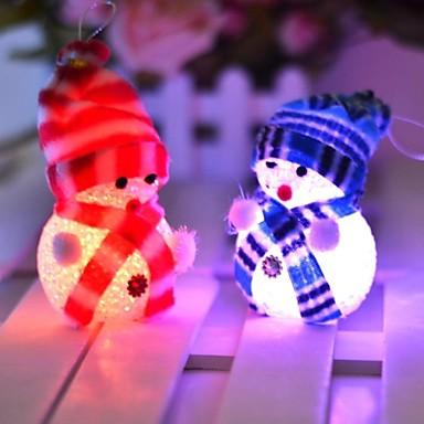 10 * 6cm elektronische LED-Weihnachtsschneemann