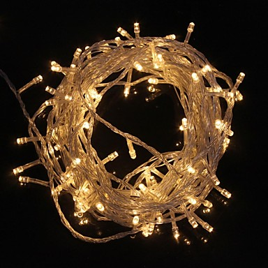 z®zdm 10m 9.6w flash 100-led warm wit / koel wit licht striplampje (eu plug, ac 220v)