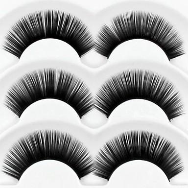 Cílios Cílios Pestana Grossa Comprimento Natural Alonga a Estremidade do Olho Volumizado Natural Grossa Fibra