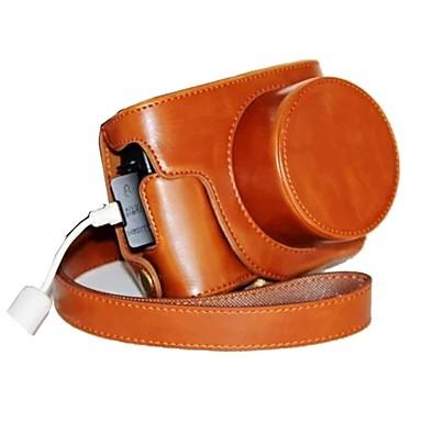 pajiatu® pu caso protetor de couro da câmera retro com porta de carregamento para Canon PowerShot G1X marca ii G1X m2