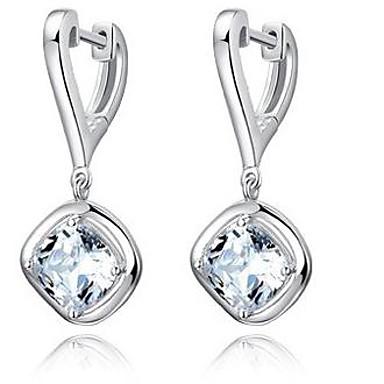 Druppel oorbellen Sterling zilver Zirkonia Strass Wit Sieraden Voor Bruiloft Feest Dagelijks Causaal