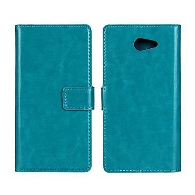 tok Για Sony Xperia M2 Sony Θήκη Sony Θήκη καρτών Πορτοφόλι με βάση στήριξης Ανοιγόμενη Πλήρης Θήκη Συμπαγές Χρώμα Σκληρή PU δέρμα για