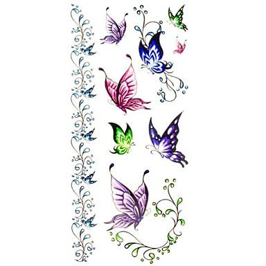 Serie de Animale Acțibilde de Tatuaj - Multicolor - Model - #(18.5*8.5) - Dame/Girl/Adult/Adolescent - Hârtie - Dame/Girl/Adult/Adolescent