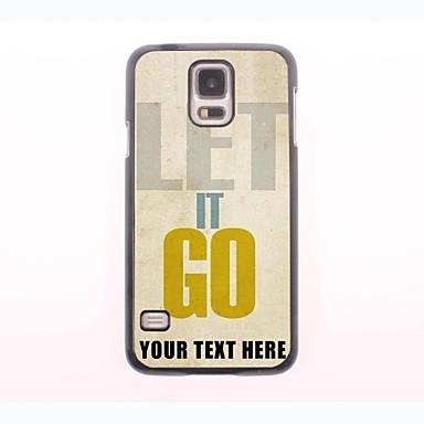 caso de telefone personalizado - deixá-lo ir caixa de metal design para samsung galaxy s5 mini-