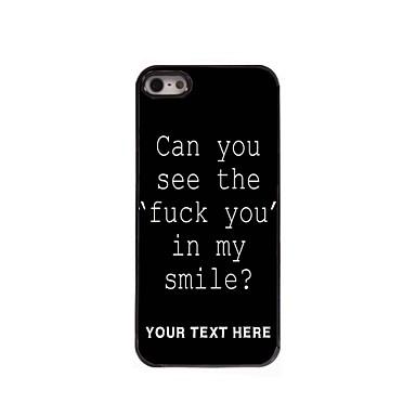 gepersonaliseerde telefoon case - neuken brief ontwerp metalen behuizing voor de iPhone 5 / 5s