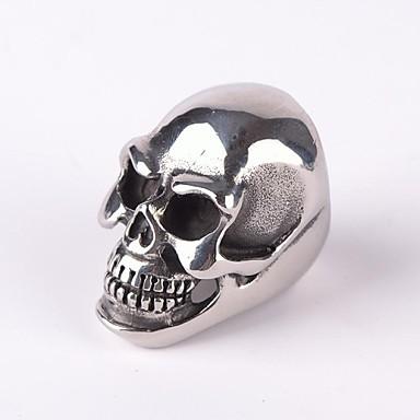 Heren Statement Ring Zilver Titanium Staal Schedel Modieus Kerstcadeaus Feest Dagelijks Causaal Kostuum juwelen
