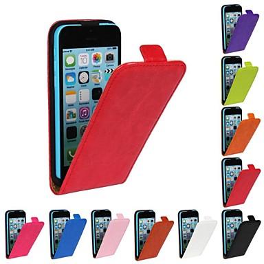 Capinha Para iPhone 5C Apple Capa Proteção Completa Rígida PU Leather para iPhone 5c
