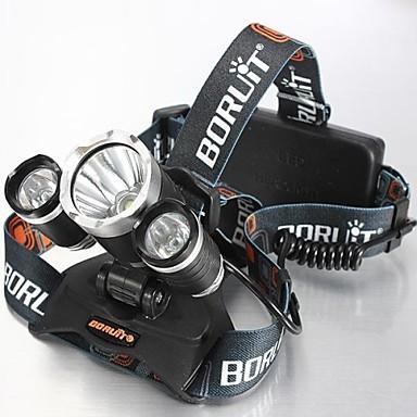4mode Φακοί Κεφαλιού Φώτα Ποδηλάτου Μπροστινό φως LED 5000 lm 4.0 Τρόπος Cree XM-L T6 με μπαταρίες και φορτιστή Ανθεκτικό στα Χτυπήματα