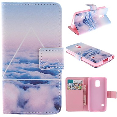 doar de design nor frumos pu caz corporal complet cu suport cu slot pentru card pentru Samsung Galaxy mini s5